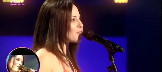 Lucia Gil y su imitacion de The Corrs en Tu cara me suena