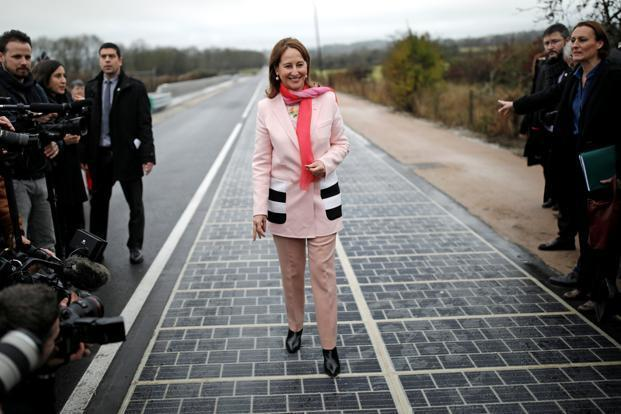 World's first 'solar panel road' opens in France Today.