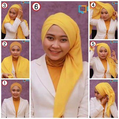 tutorial hijab kerudung paris style 5