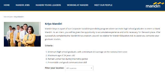 rekrutmen kriya mandiri bank mandiri 2017
