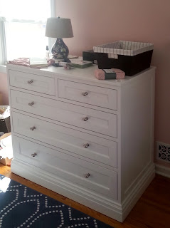 Custom painted bedroom dresser