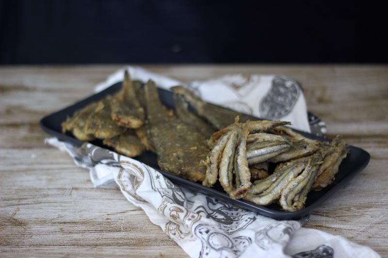 Pescaito frito con Berenjenas