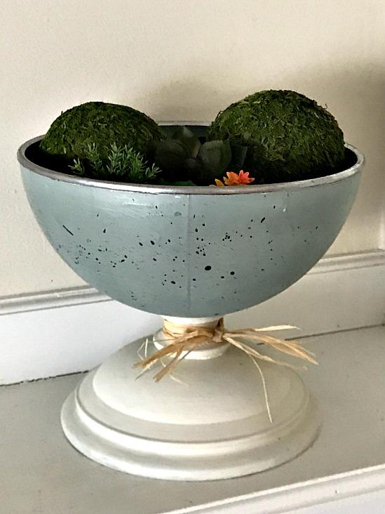 Robin's Egg Blue Globe Pedestal Dish. Homeroad.net