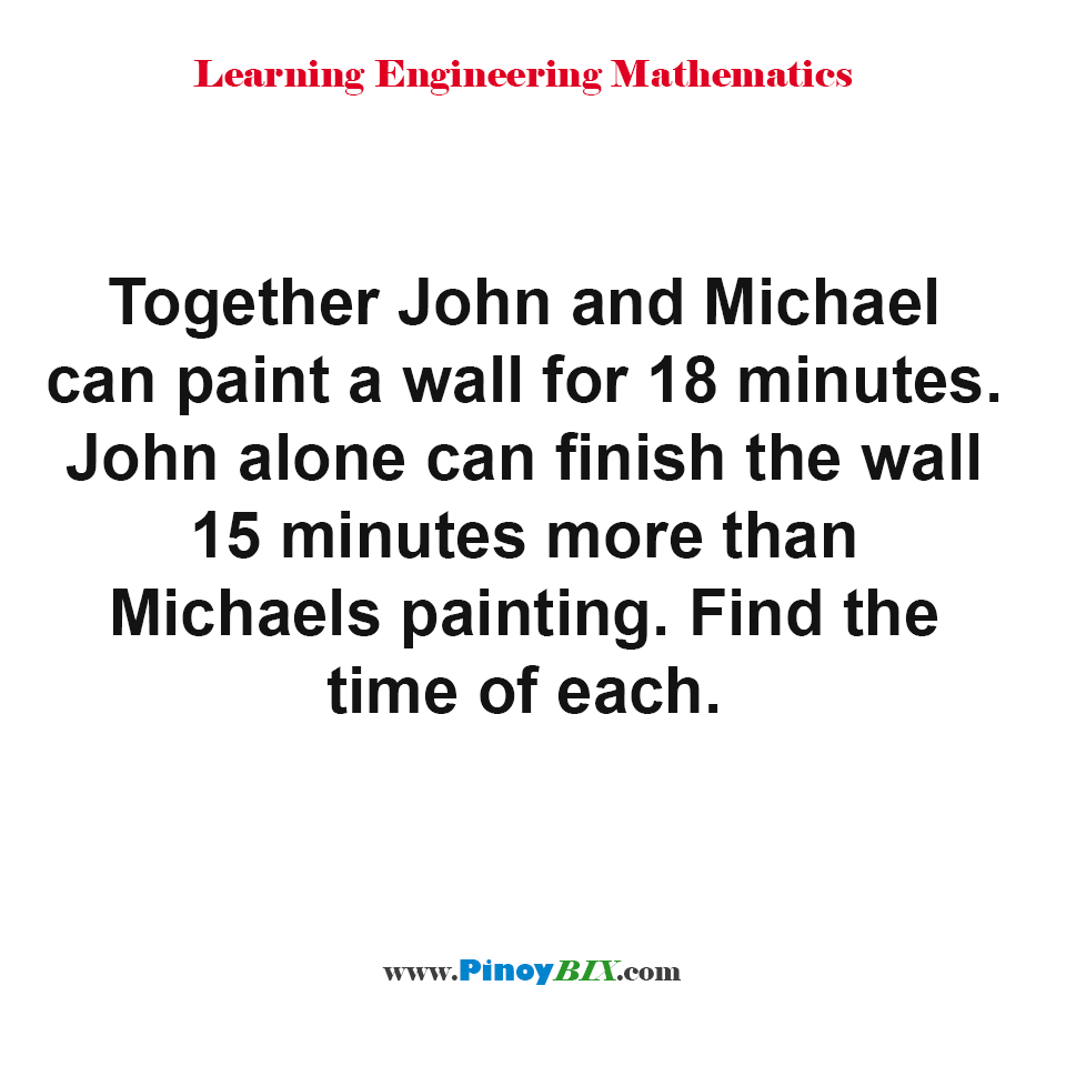 Find the time each painter could finish the job alone