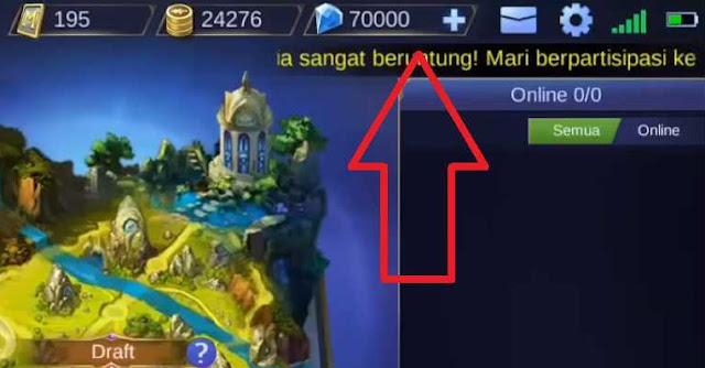 Script 70.000 Diamond Mobile Legends Gratis Patch Terbaru