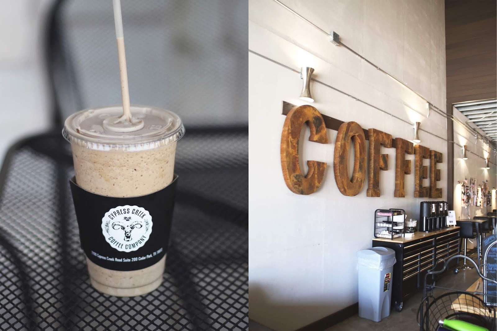 Cypress Creek Coffee Company Austin, Iced Coffee, Cozy Coffee Shop, Coffee Shops Vibe