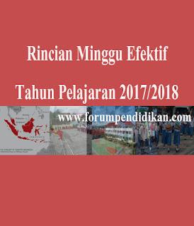 Rincian Minggu Efektif Tahun Pelajaran 2017/2018