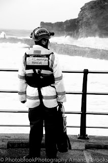 Coastguard at Portreath in Cornwall