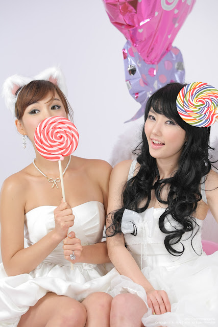 2 Kim In Ae and Mina – White Dresses - very cute asian girl-girlcute4u.blogspot.com