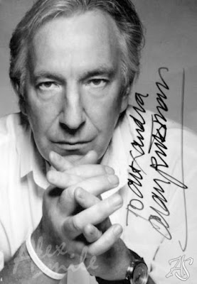 Alan Rickman Autograf, Autograph, authenic sign, VV