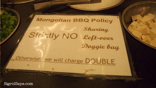 Mongolian Bar at Bob's Restaurant