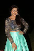 Nikki Galrani in Green Skirt  Top at Marakathamani music launch ~  Exclusive (137).JPG