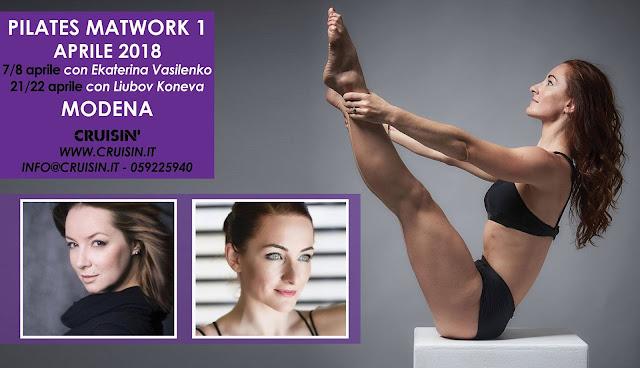 Due grandi formatrici per un nuovo percorso di formazione Pilates Matwork targato Cruisin'. Ekaterina Vasilenko, docente certificata PMA (Pilates Method Alliance) e Liubov Koneva, diplomata all'Accademia di San Pietroburgo,