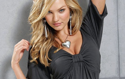 Candice Swanepoel in Hot Black Dress