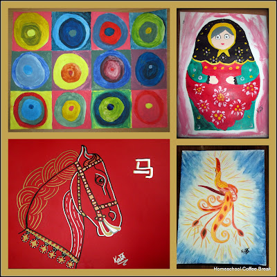 Art Resource Collection (Blogging Through the Alphabet) on Homeschool Coffee Break @ kympossibleblog.blogspot.com