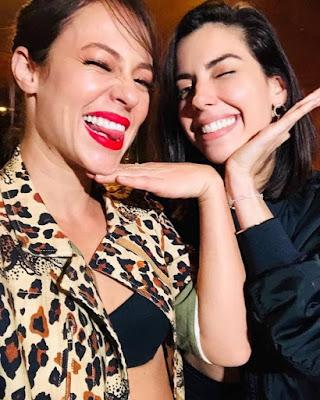 Paolla Oliveira está aprendendo sobre o mundo das influenciadoras digitais com a blogueira Camila Coutinho — Foto: Reprodução/Instagram