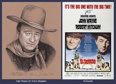 John Wayne. American Actor and Freemason. El Dorado. by Travis Simpkins