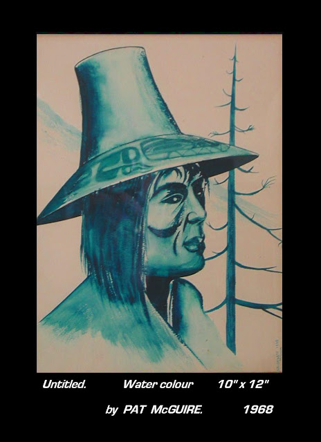 Pat McGuire painting untitled Chief