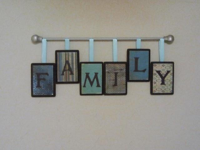 :::Make or Bake:::: DIY Family wall decor