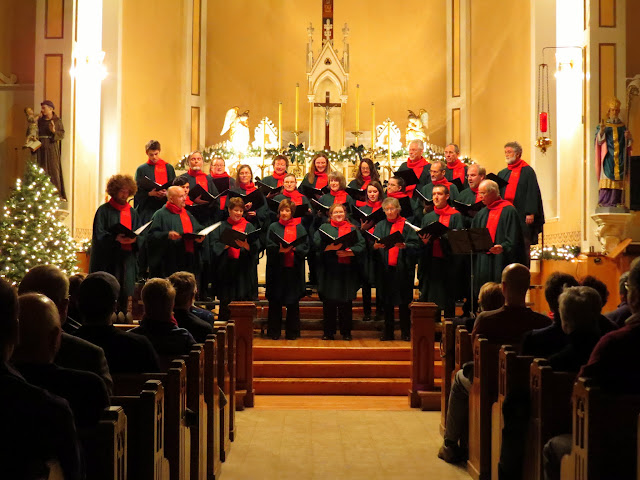 The Stairwell Carollers perform at St Stephens church in Chelsea, Quebec