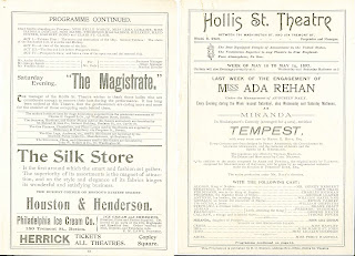 "A set of advertisements, including one for ""The Tempest."""
