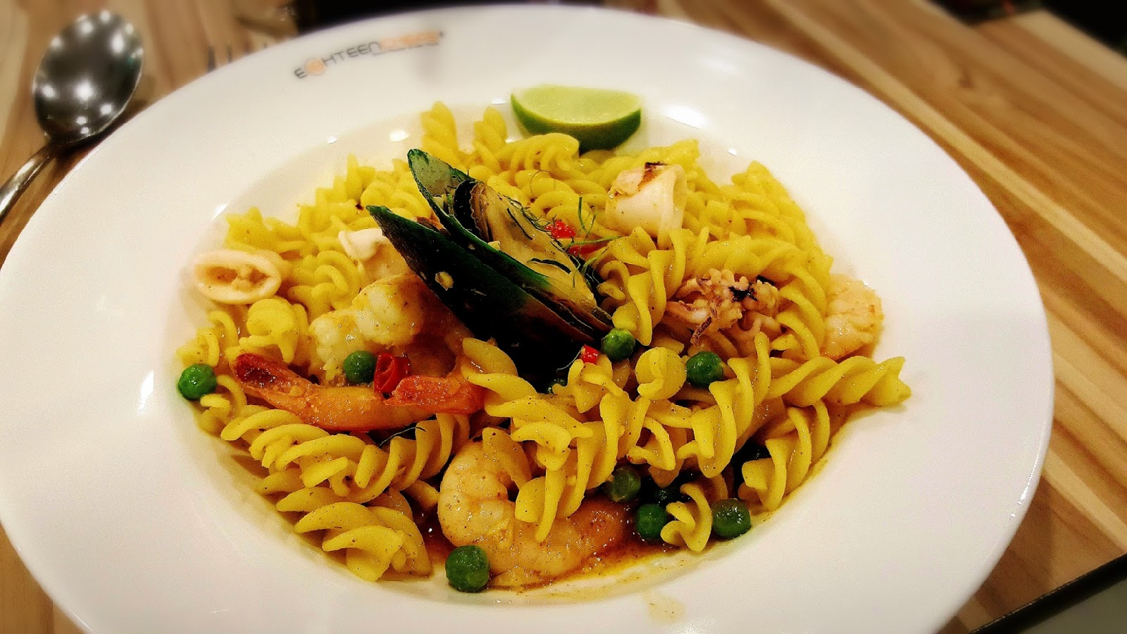 Food review eighteen chefs singapore - Yes Spicy This Is Spicy I Love It Though Mediocre Taste I Feel Light Having Fusilli Than Spaghetti Well I Still Love Spaghetti Esp Linguine