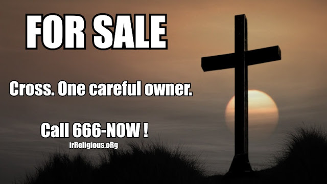 Funny Jesus Cross For Sale Advert Picture