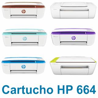 Cartucho HP 664 preto e colorido