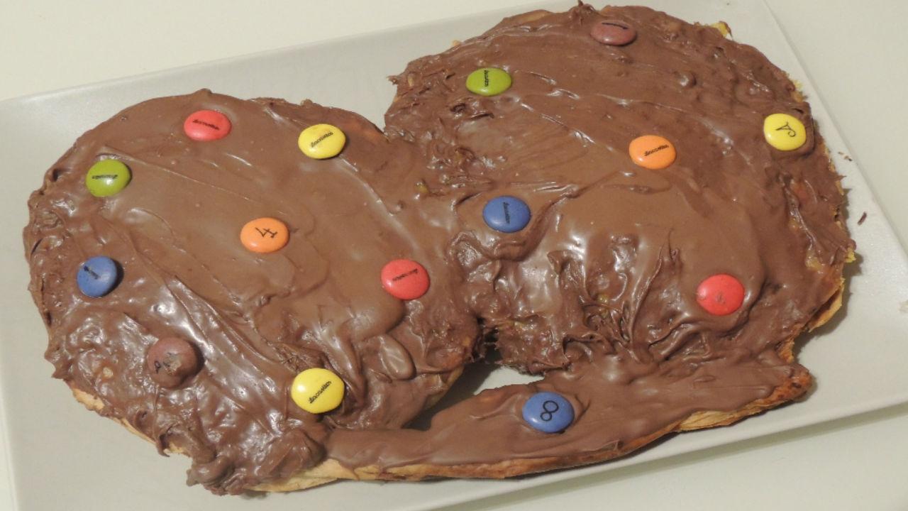 Variedad En Tu Cocina Recetas De Todo Tipo Y Con Monsieur Cuisine Plus Palmera De Chocolate Gigante Rellena De Crema Pastelera