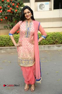 Actress Vimala Raman Stills in Beautiful Pink Salwar Kameez at (ONV) Om Namo Venkatesaya Press Meet  0263.JPG