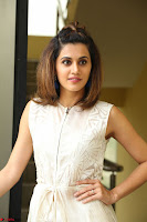 Taapsee Pannu in cream Sleeveless Kurti and Leggings at interview about Anando hma ~  Exclusive Celebrities Galleries 016.JPG