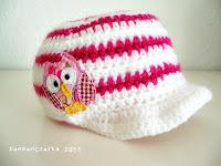 cute crochet owl baby cap | http://panpancrafts.blogspot.de/