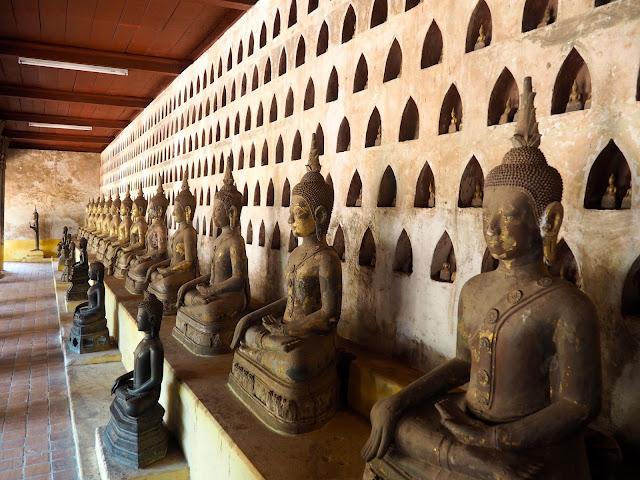 Buddha statues inside Wat Sisaket, Laos