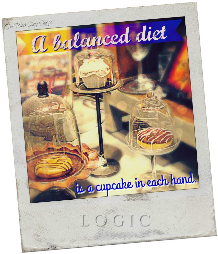 A balanced diet is a cupcake in each hand.