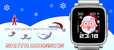 Santa dressing watchface - Pebble Time / Time Steel