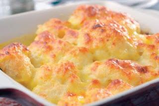 Cauliflower Au Gratin (Karnibahar Graten)