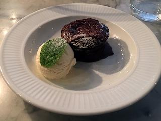 Chocolate fondant - Côte Edinburgh.
