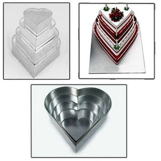 Heart multilayer wedding cake tins pans