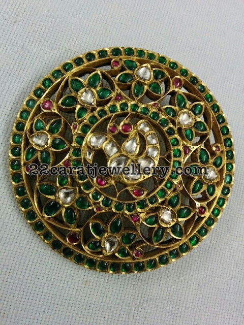 Ruby Emerald Exclusive Temple Pendants