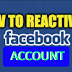 How Do You Reactivate Facebook Account