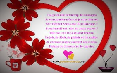 Message d'amour sur image romantique