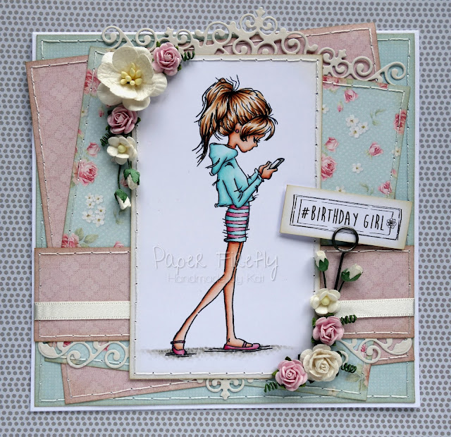 Girly vintage card featuring Jasmine phone from LOTV