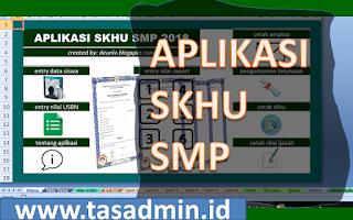 aplikasi skhu smp excel tahun 2019