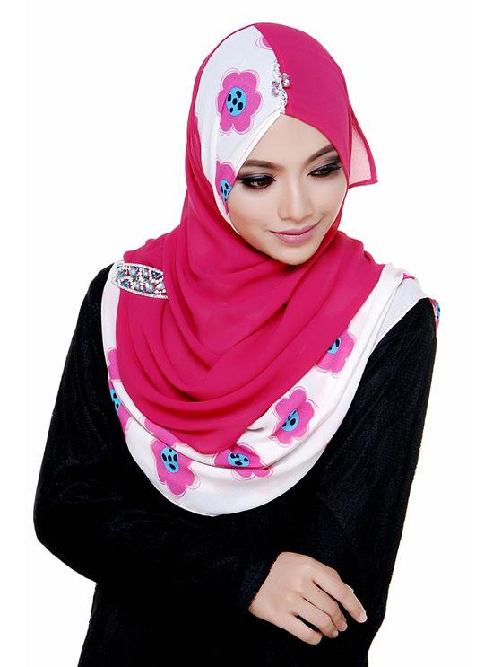 Shawl Rekaan Terkini Cantik Bidadary.my