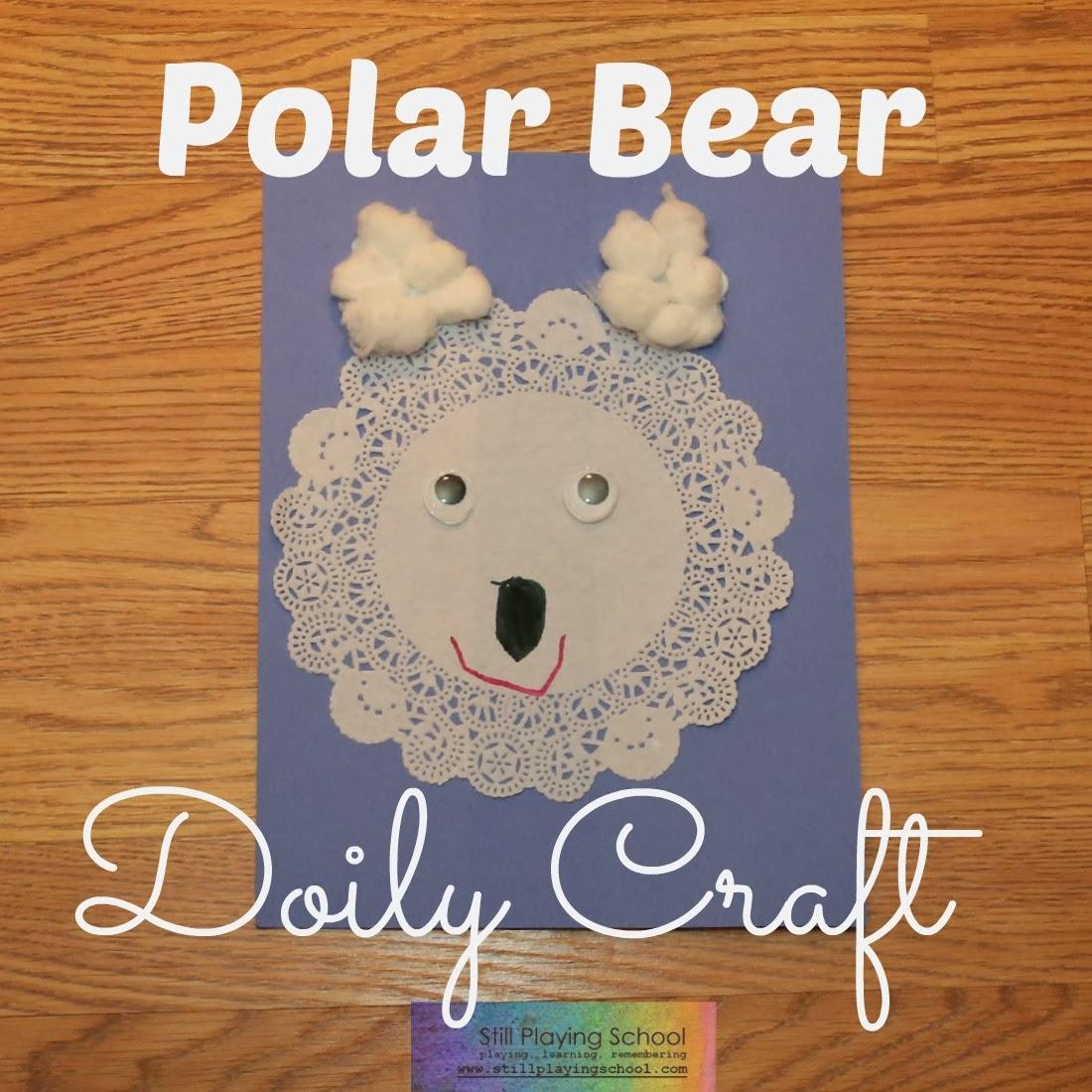 Polar Bear Doily Craft
