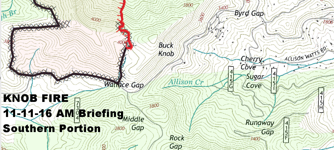 Knob Fire  Southern Portion