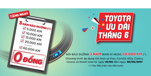 chuong trinh khuyen mai thang 6 cho khac hang mua xe toyota anh 2