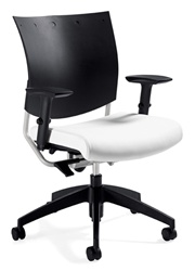 Office Chair with Easy To Clean Plastic Back
