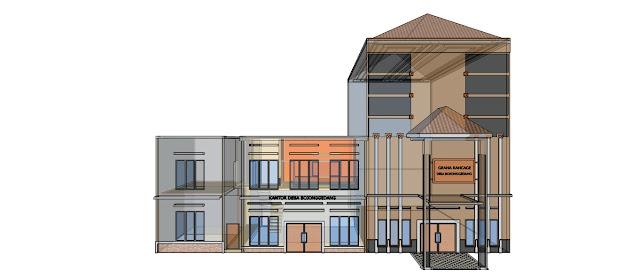 contoh gedung aula desa