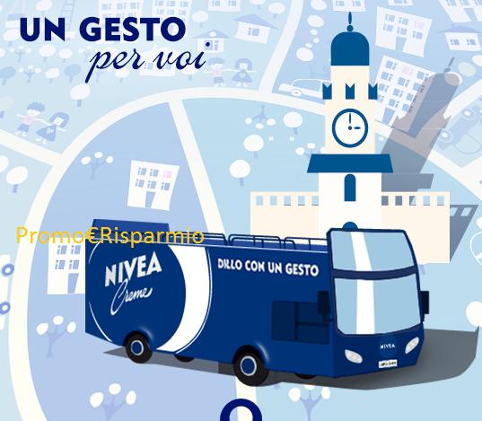 Logo Tour Gratuito per Milano con il Nivea Blue Bus